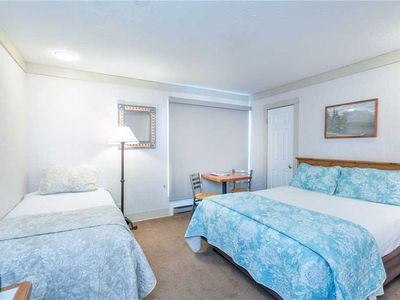 Photo for Flexible Summer Policies - Hotel Room With Kitchenette, Walk to Downtown or to the Ski Lifts