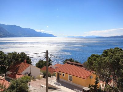 Photo for One bedroom apartment with terrace and sea view Marušići (Omiš) (A-10012-b)