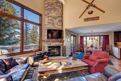 Grande Vista - a SkyRun Breckenridge Property - Beautiful floor-to-ceiling stone fireplace