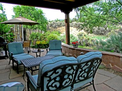 Photo for Alba de Sun Ra In Town Mountain View Private Patio with  Hot Tub wifi