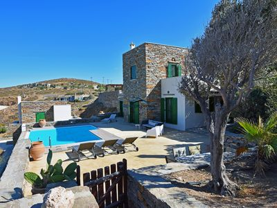 Photo for Stone built villa with a swimming pool and a sea view