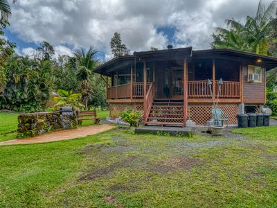 Photo for Secluded getaway w/ a tropical yard & furnished, wraparound lanai!