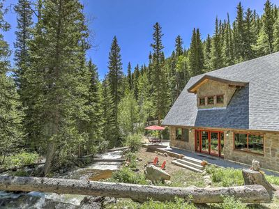 Photo for Idyllic Secluded Creek Side Mountain Home