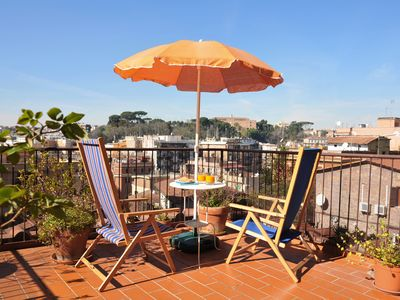 Photo for Sunny apartment with large terrace near St. Peter