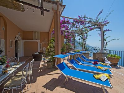 Photo for Casa Gemma, beautiful house, on a sea front hill in Positano.
