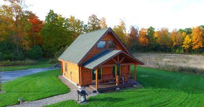 Rustic Real Log Cabin In The Finger Lakes Overlooking Seneca Lake On Wine Trail Geneva
