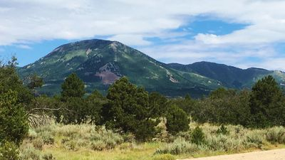 Veiw of the Abajo Mountains from our Guest Ranch