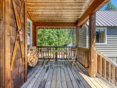 Photo for Warm & cozy cottage w/ a wood stove in a great Government Camp location!