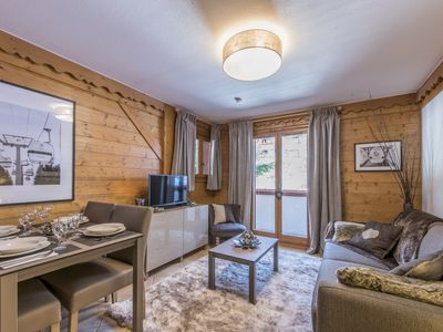 Photo for SKI THE FEET WITH POOL - CHARMING APARTMENT - 4 people