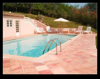 Photo for Air-conditioned villa surrounded by greenery 10 minutes from Cannes beaches and shops