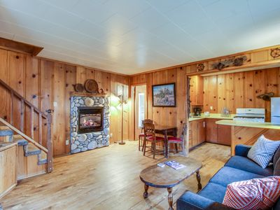 Photo for Dog-friendly cabin w/ shared hot tub, gas fireplace, and trail access