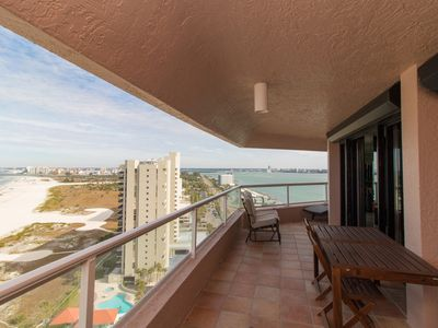 Photo for Beachfront Penthouse. 5 Private Balconies, 2 Pools, Tennis, and more