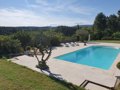 Photo for Villa large pool and panoramic view Ardeche Cevennes