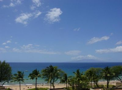 View from the lanai (patio), only a minute walk to this top rated beach