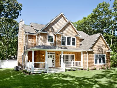 Photo for New Sag Harbor Luxury Home, Heated Pool, Walk to Private Beach, Walk To Village