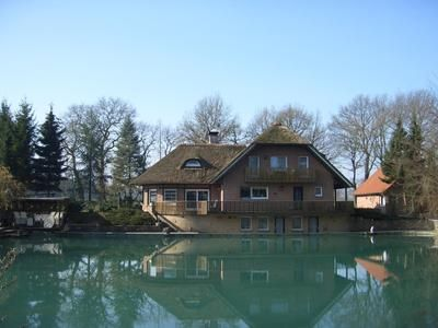 Photo for Apartment Wilsum - Rietgedecktes house on a small natural lake