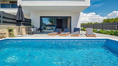 Photo for Stylish villa with private pool 300 m from the sea