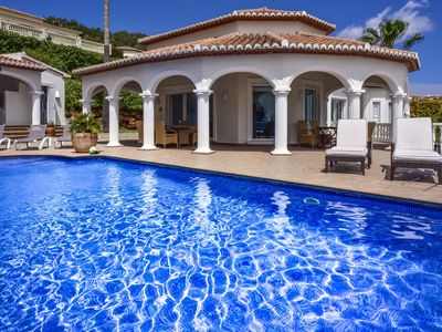 Photo for Wonderful private villa for 8 guests with private pool, WIFI, A/C, TV and parking