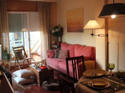 Photo for Exclusive apartment in Sanxenxo with pool 100 meters from the beach of Silgar,