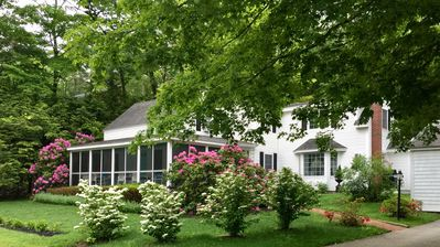 Photo for THE SIRENS SONG: RECENTLY RENOVATED UPSCALE FARMHOUSE. WALK TO TOWN & BEACH!