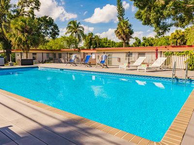 Photo for #3:  40' Salt Water Pool and Traditional Key West Decor