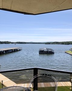 Photo for Lake Hamilton Condo with AMAZING view, swimming pool, balcony, boat tie-up.