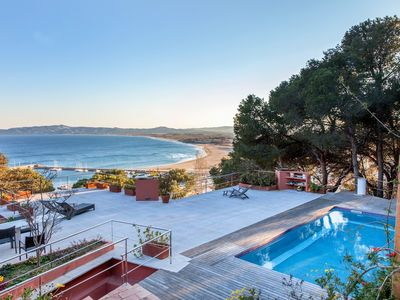 Photo for Stunning sea views with private pool