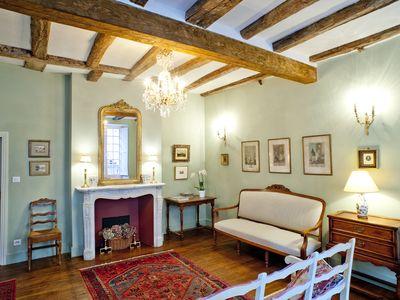 Photo for In the heart of old Sarlat, Les Suites Sarladaises, spacious Unicorn apartment!