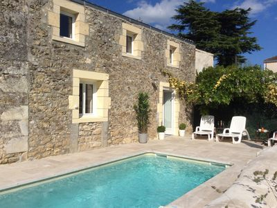 Photo for La Porte Bleue: Gorgeous 2 bedroom cottage with pool in charming French village