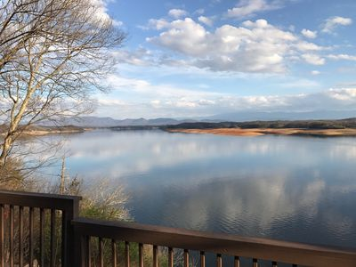 Photo for Amazing Lake and Smoky Mountain views from this charming lake house.
