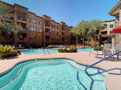 Photo for NEW LISTING! Cozy condo w/shared pool/hot tub-near entertainment, golf & hiking
