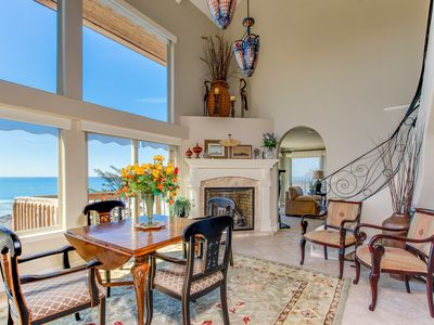 Photo for Admire the ocean from this elegant beach chateau on the Oregon coast!