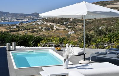 Photo for Private pool 2.5 x 4 m, relaxing holidays, close to Parikia and the beach