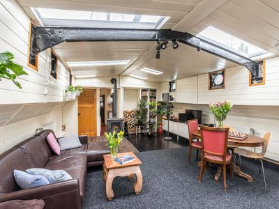 Photo for Authentic houseboat with comfort & privacy