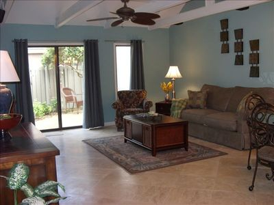 Comfortable Family room with flat screen TV