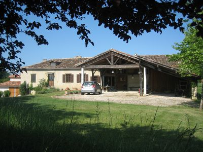 Photo for French farmhouse with pool and views of the Pyrenees