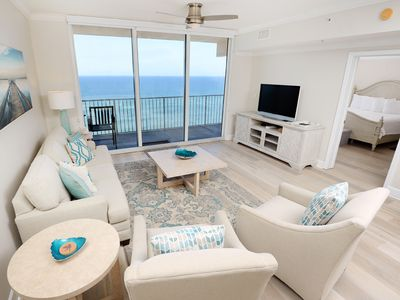 Photo for Elegant, beachy condo! Incredible gulf-front views! Free DVD rentals! Starbucks on-site!