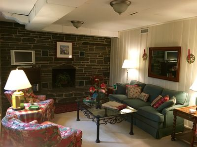 Photo for Lynchburg Private Hillside Terrace Apartment with Stone Patio Overlooking Woods