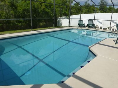 Photo for Orlando Disney Vacation 3br Pool Rental Home Villa - Pool Faces South - Sleeps 8