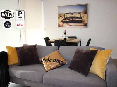 Photo for Walk to Gabba stadium from Kangaroo point apt*2bdr*2bath*parking
