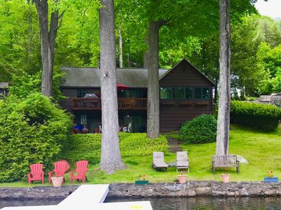 Photo for Charming & Classic LAKEFRONT Chalet:  Vintage 3BR, 1BA and beautifully furnished