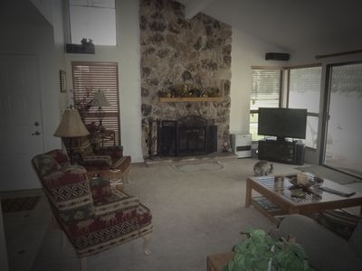 Livingroom facing the 4th fairway and Feather River