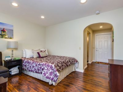 Photo for Affordable, dog-friendly studio boasts nearby beach access and ocean views