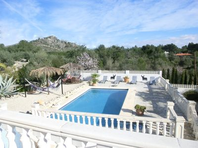 Photo for Beautiful villa, with private pool, on a sandy path with mountain views. In the Jalon valley