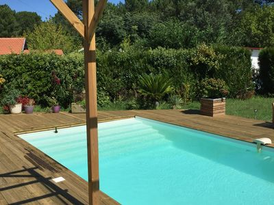 Photo for FURNISHED APARTMENT 98 M2 on the ground floor of a house with swimming pool PRIVATIVE