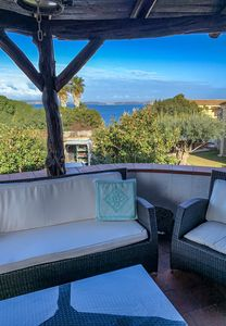 Photo for Baia Sardinia - Villa Rose with 4 rooms 500 meters from the sea - independent 10 post