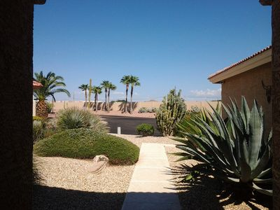 View from front door looking towards the mountains