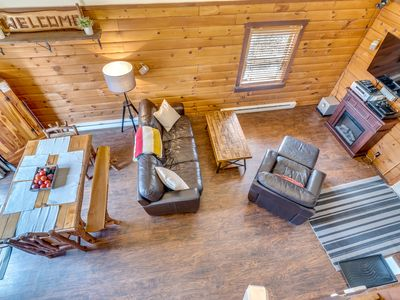 Photo for Secluded Pet-Friendly High-Tech Log Cabin in the Woods