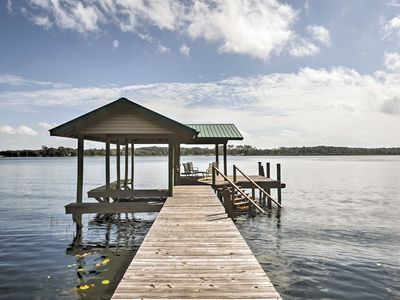 Photo for Waterfront Pomona Park Home w/Dock on Lake Broward