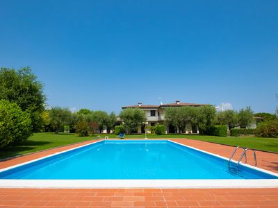 Photo for Holiday Home with Wi-Fi, Garden and Pool; Pets allowed